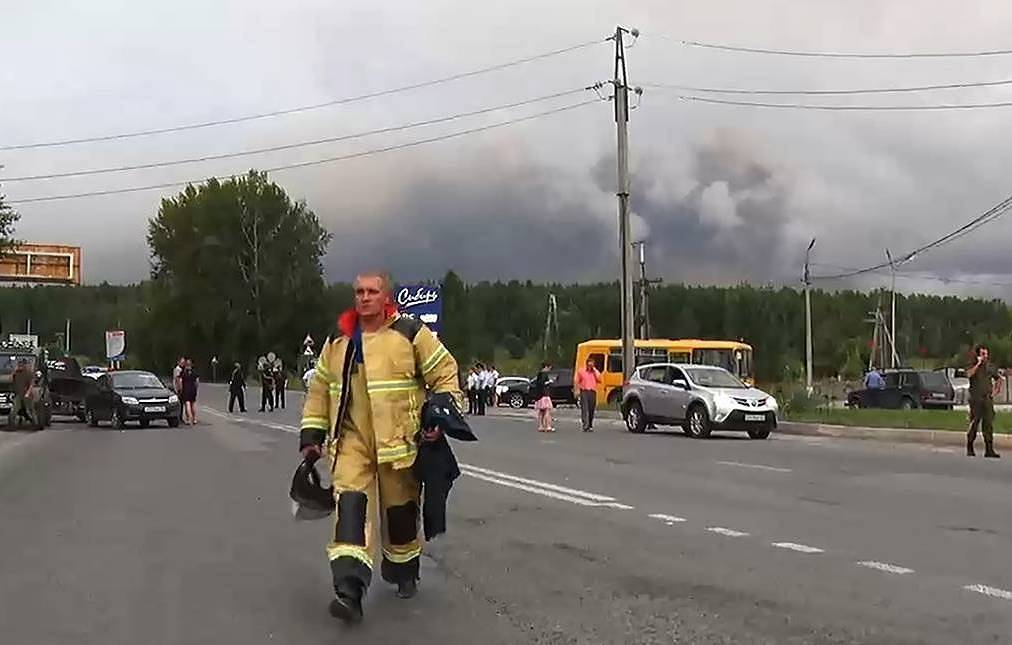 Explosions rip through Russian ammunition depot for second time