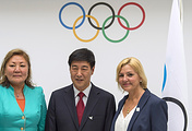Representatives of the 2022 Olympic Games candidate cities
