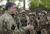Petro Poroshenko during his visit to Sloviansk