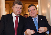 Ukrainian President Petro Poroshenko and  European Commission President Jose Manuel Barroso
