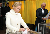 Leader of the Batkivshchyna faction Yulia Tymoshenko and her husband Alexander