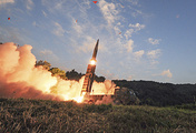 South Korea's ballistic missile is fired during an exercise