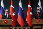 The presidents of Russia and Turkey, Vladimir Putin and Recep Tayyip Erdgan