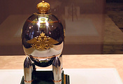 Steel Military egg by Carl Faberge