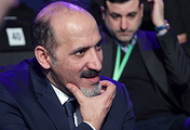 Head of the Syria's Tomorrow Movement Ahmad Jarba during the Sochi congress