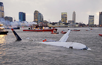 An Airbus 320 US Airways aircraft that went down in the Hudson River is seen in New York, 2009