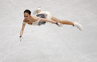 Alina Zagitova of Russia performing during the Ladies Short Program event of the 2019 ISU World Figure Skating Championships in Saitama, Japan