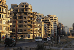 Buildings in the old city of Homs, Syria