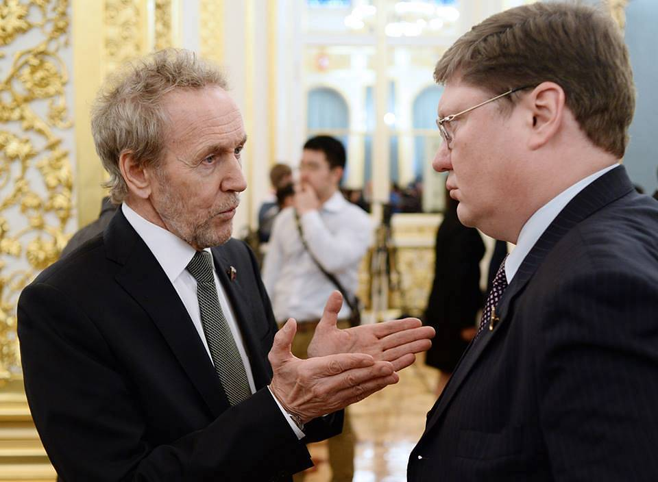 Member of the State Duma Committee on Labor, Social Policy and Veterans Affairs Valery Trapeznikov and Chairman of State Duma Committee on Labor, Social Policy and Veterans Affairs Andrei Isaev