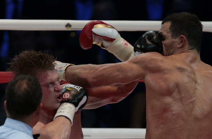 Wladimir Klitschko vs Alexander Povetkin in heavyweight boxing title fight in Moscow