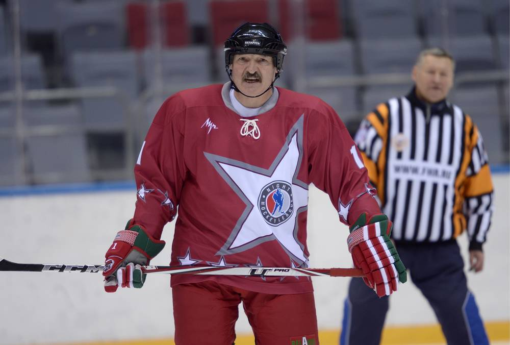 Belarus President Alexander Lukashenko took part in an ice hockey match during a visit to Sochi in Jan. 2013