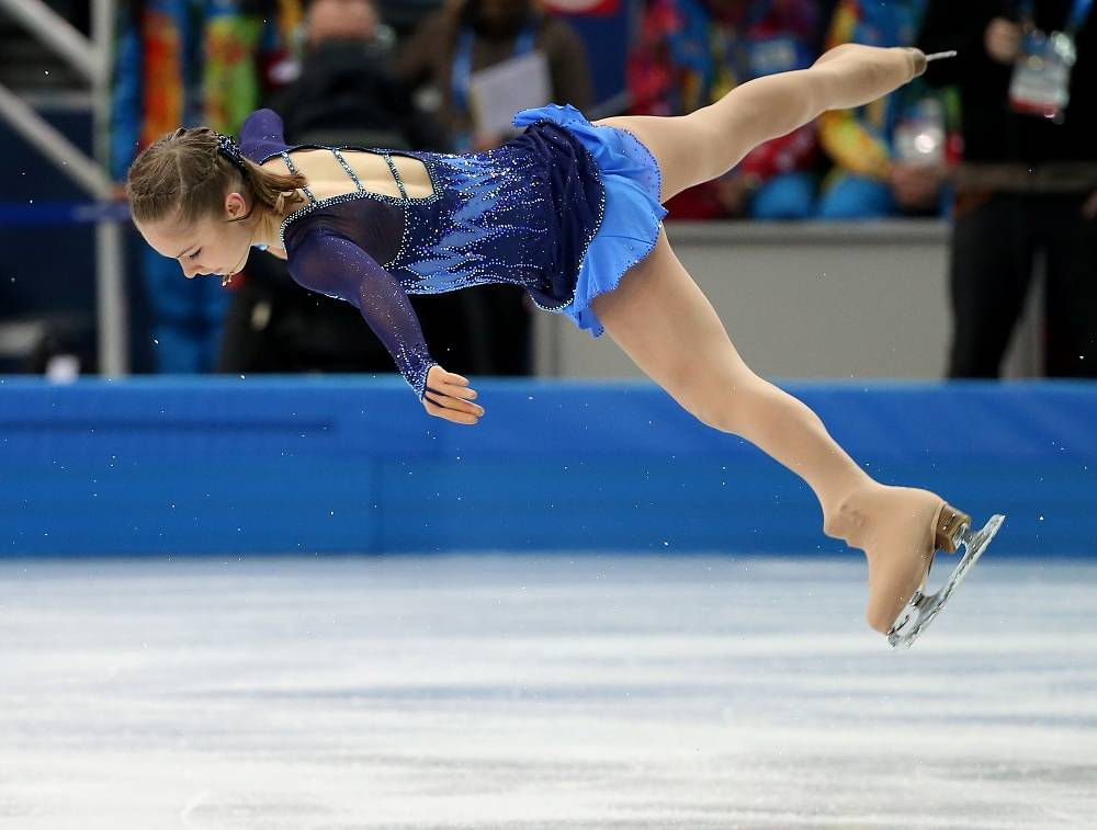 Yulia Lipnitskaya during her teams short programme in Sochi