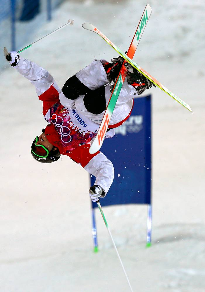 Alex Bilodeau of Canada in action during the Freestyle Skiing Men's Moguls Qualification 1 at the Sochi 2014 Olympic Games
