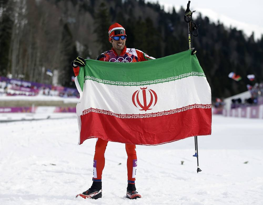 Iran's national team is represented at this year's Olympics by five athletes in two events. It's the biggest delegation to represent Iran since 1956. Photo: Iran's skier Seyed Sattar Seid