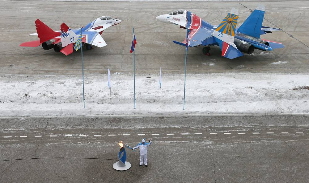 Paralympic flame at Moscow region's Kubinka airport