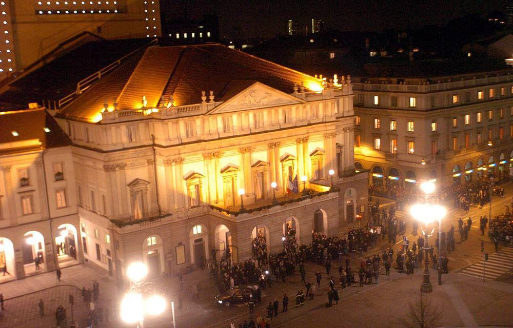 The La Scala in Milan is one of the world's most famous opera theaters