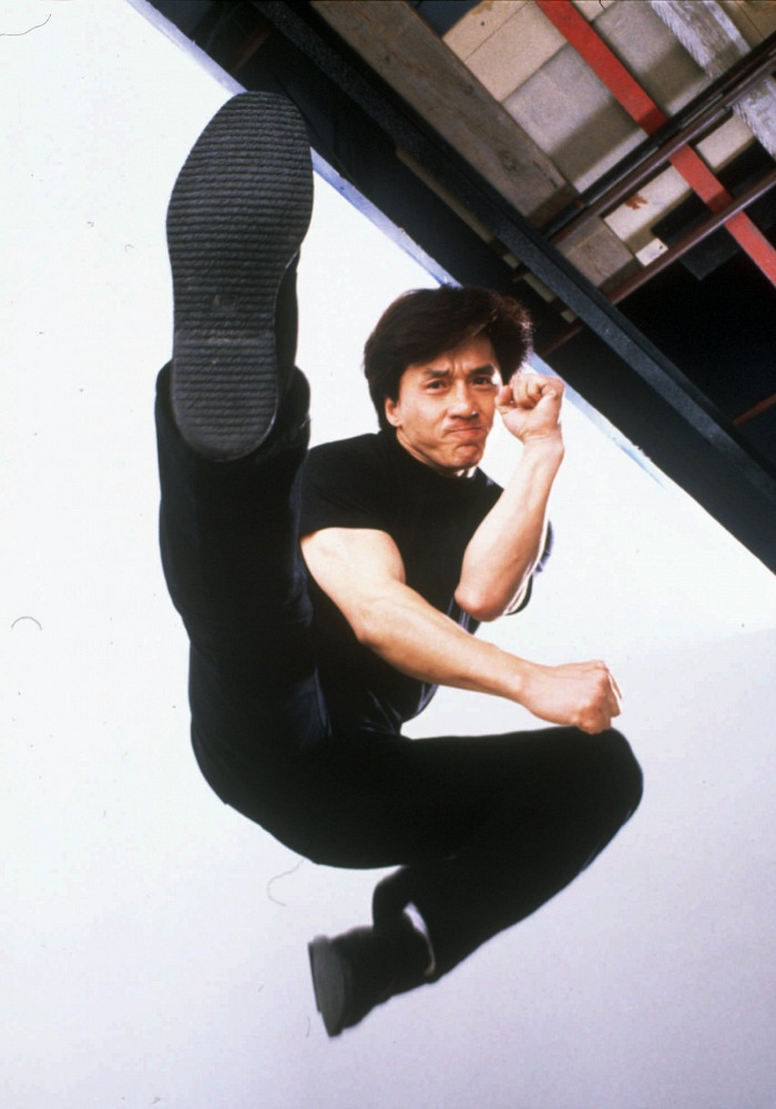 Jackie Chan is one of the most famous martial artists in the world, also popular for his acting comedian skills. Photo: Chan in 'Supercop', 1992