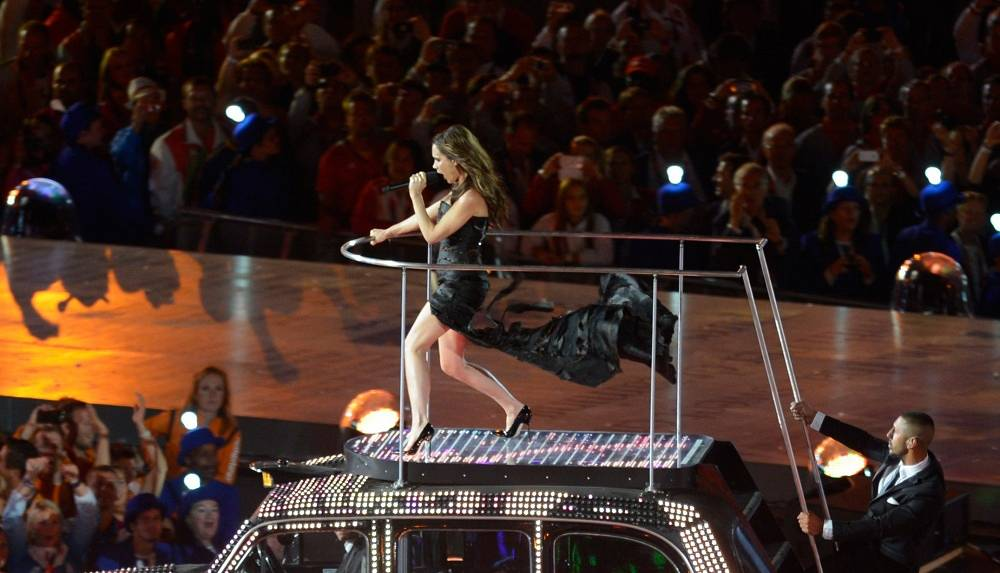 Victoria Beckham at the London Olympics closing ceremony in 2012