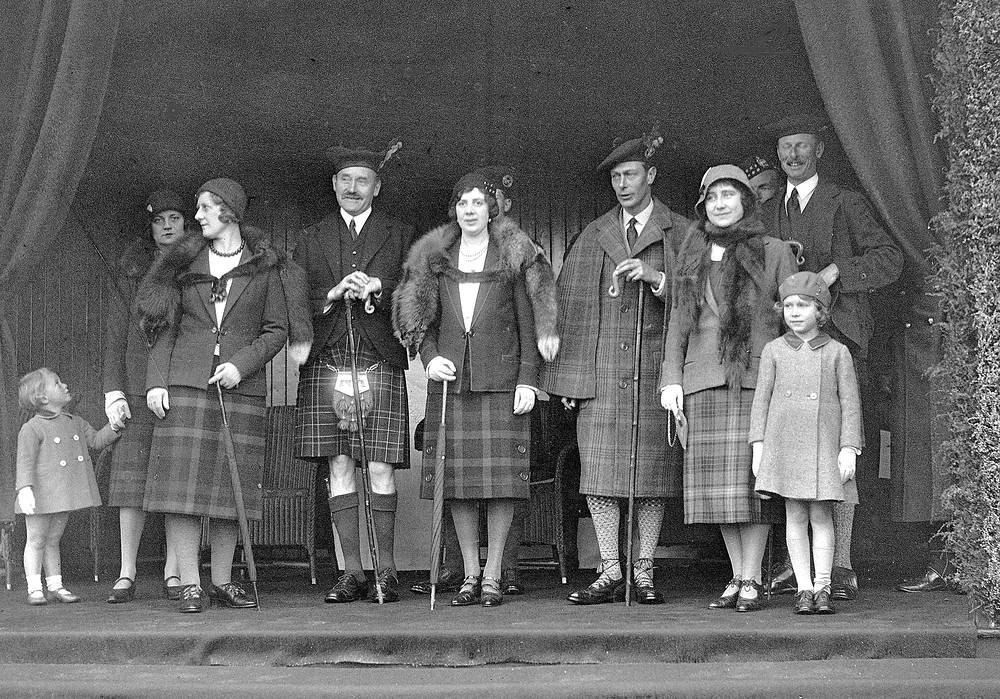 "Elizabeth's close family called her ""Lilibet"" in childhood. Photo: Britain's Princess Elizabeth, later Queen Elizabeth II, front right, stands with her mother and father, Duke and Duchess of York , fourth and fifth from right in 1932"