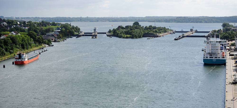The locks at the Kiel Canal