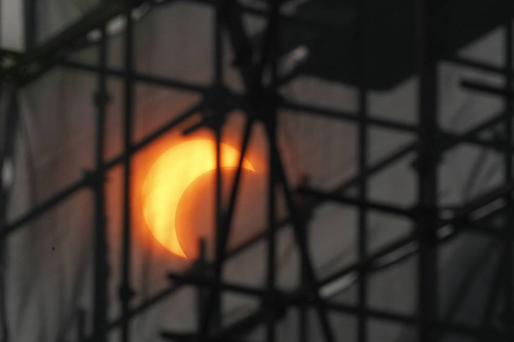 Partial solar eclipse in Beijing in 2012