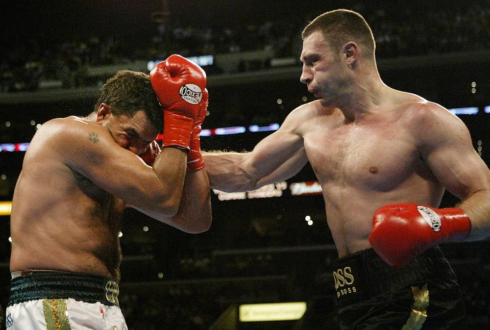 On April 24 2004 Klitschko won the WBC heavyweight championship in a fight against Corrie Sanders by technical knock out in the eighth round