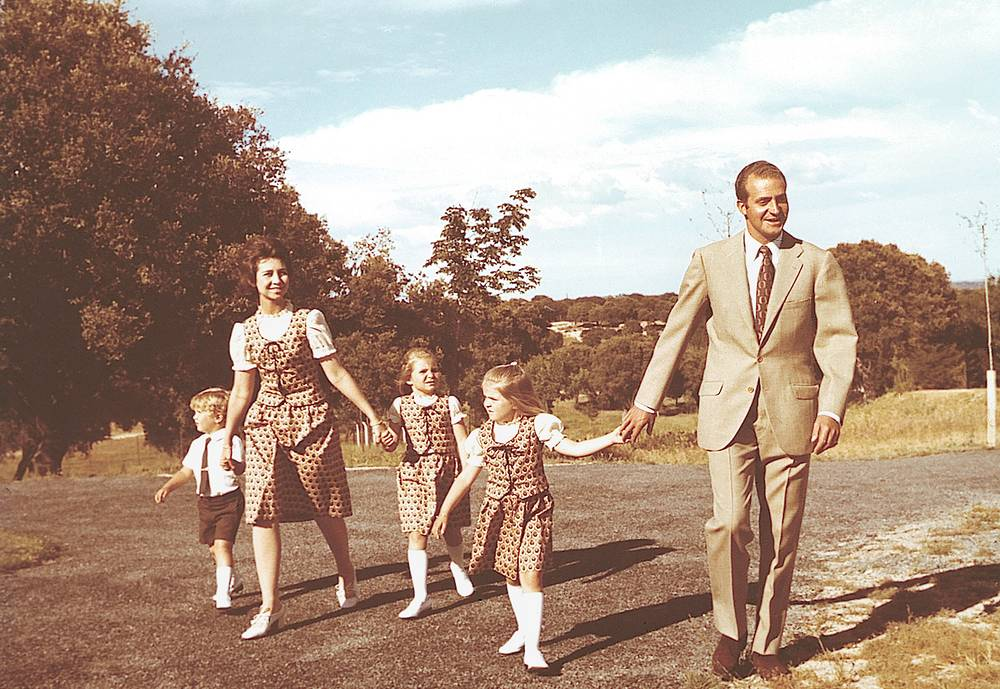 King Juan Carlos and his family seen in 1975