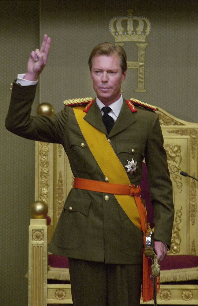 Grand Duke of Luxembourg Jean, who became Grand Duke, when his mother's abdication, was succeeded on the throne by his son Henri (photo), abdicating in 2000
