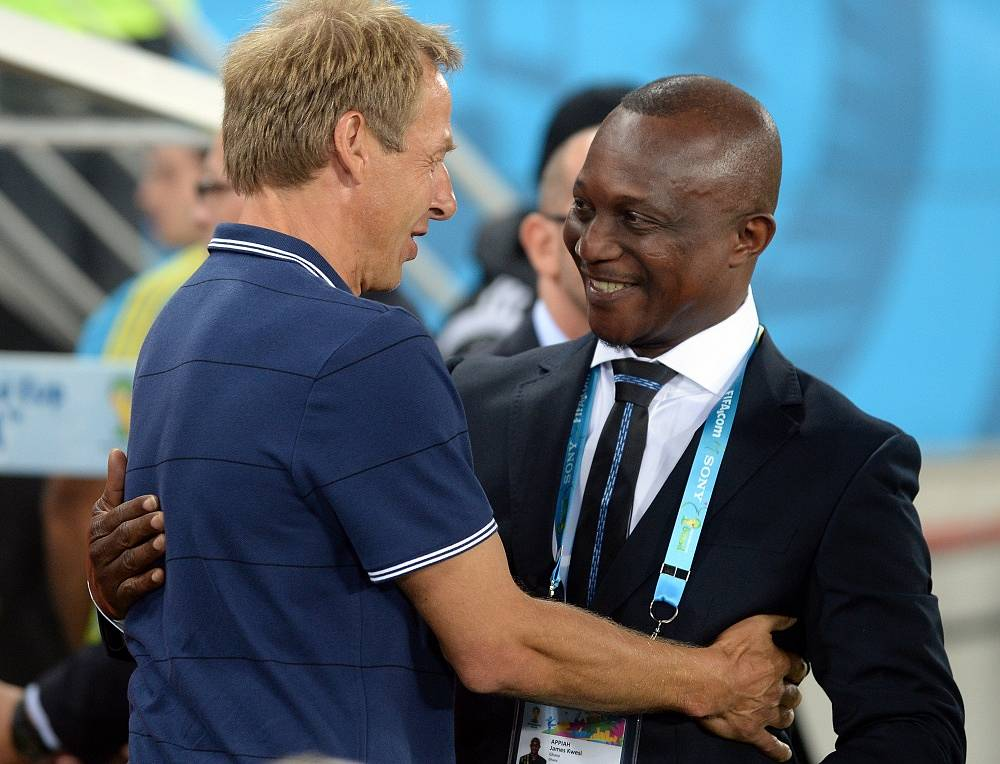 US coach Jurgen Klinsmann and Kwesi Appiah of Ghana