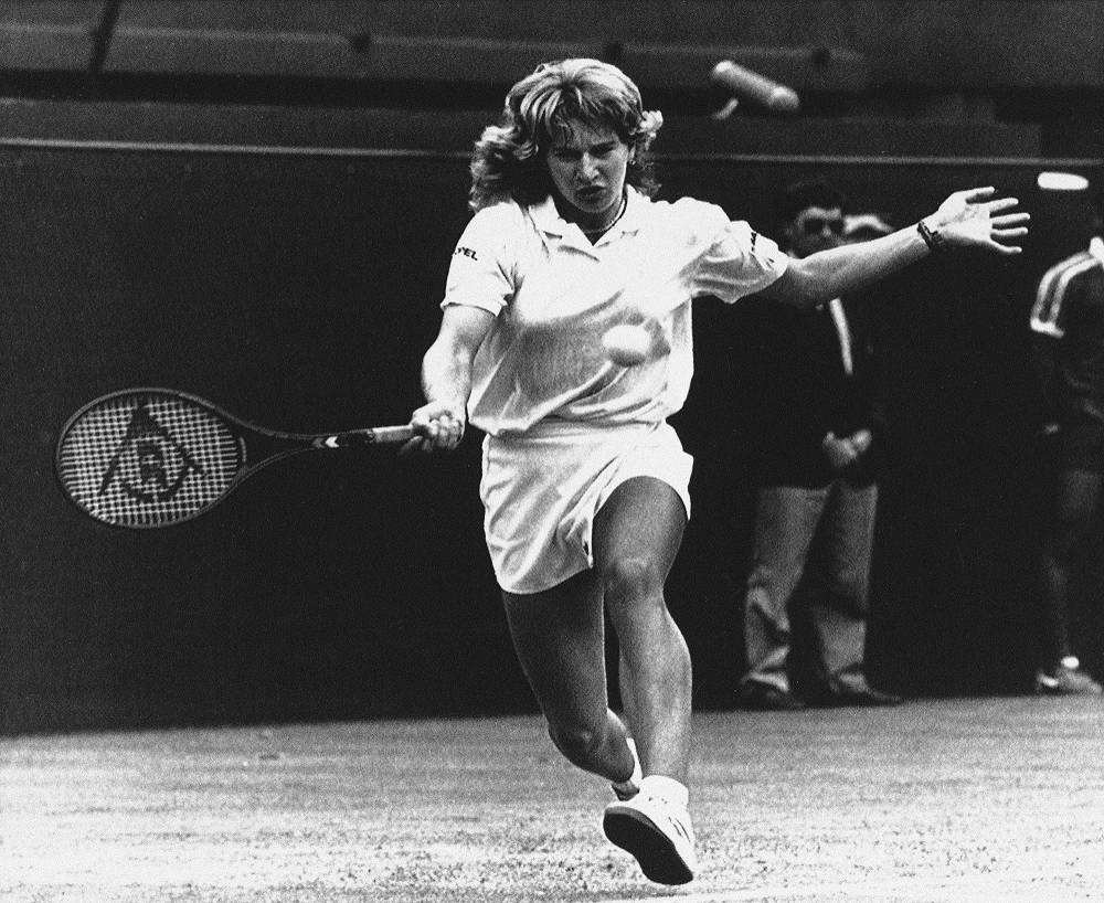 Germany's Steffi Graf won seven Wimbledon titles
