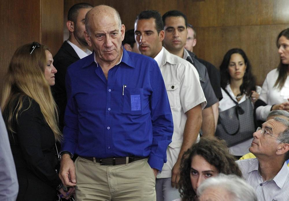 Former Israeli prime minister Ehud Olmert was sentenced to six years of imprisonment and two years' suspended for bribery in May 2014