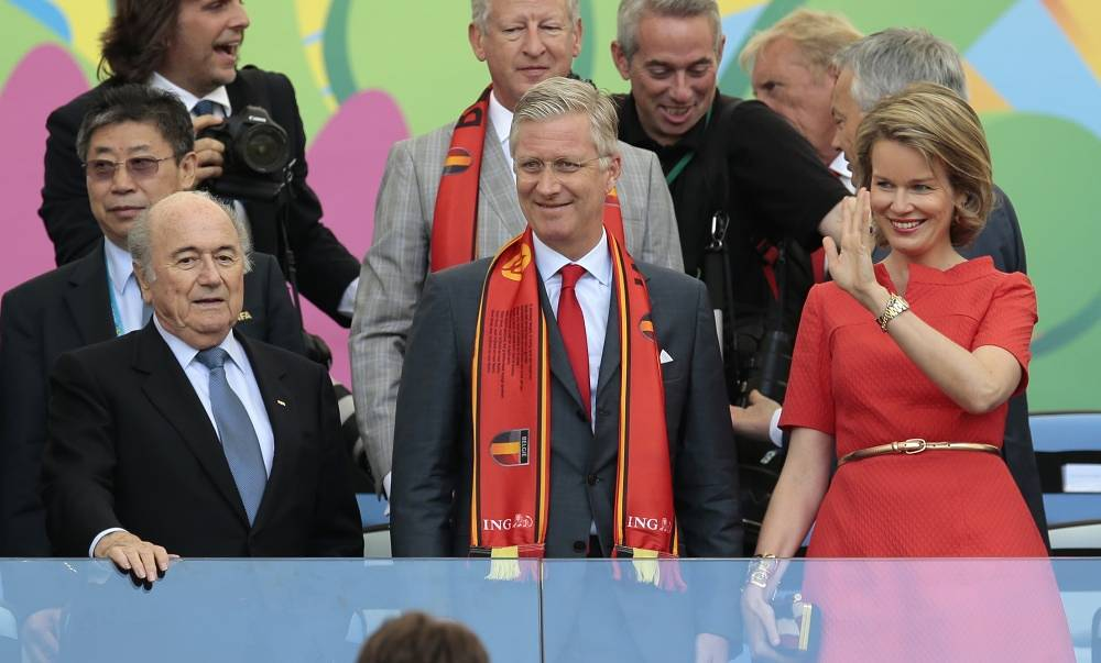 Belgium's King Filip and Queen Matilda supported their team in the match against Russia