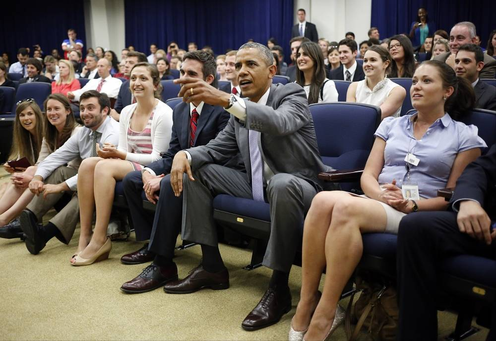 US President Barack Obama supported his national team together with White House staff members