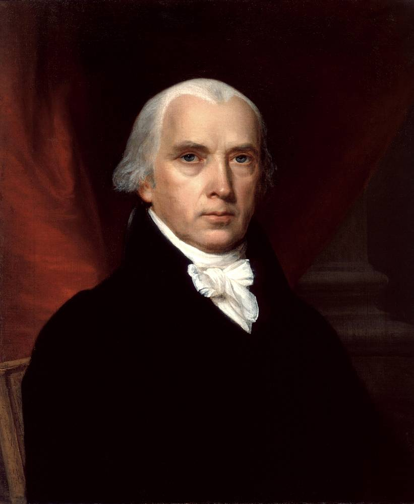 Author of the Bill of Rights James Photo: Madison Portrait of James Madison by John Vanderlyn