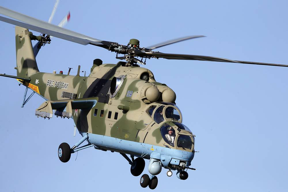 Mi-24 attack helicopter