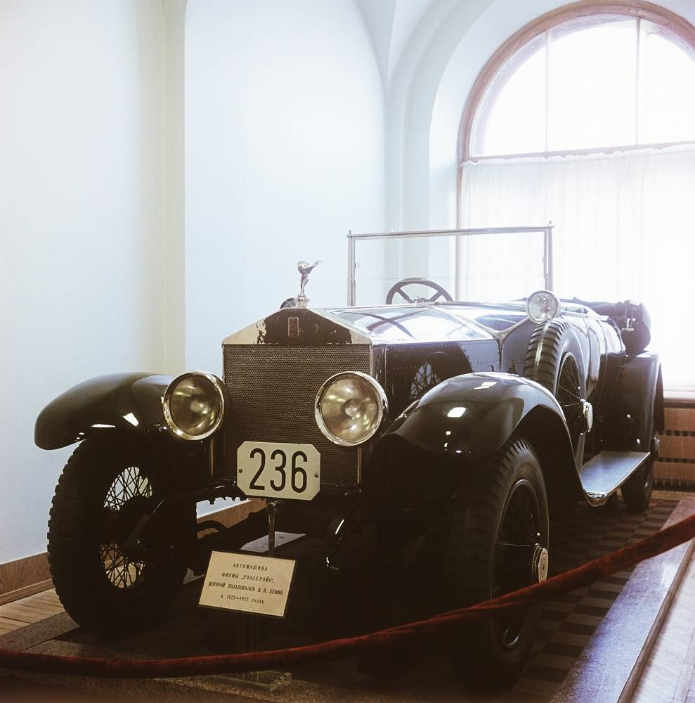 Since Vladimir Lenin became the leader of the Soviet Russia, he had a Turcat-Mery 28, a Delaunay-Belleville-45 and a Renault-40 CV. In the 1920's Lenin used a Rolls Royce 40/50 Silver Ghost and the only Rolls Royce-based sledge-car in the world