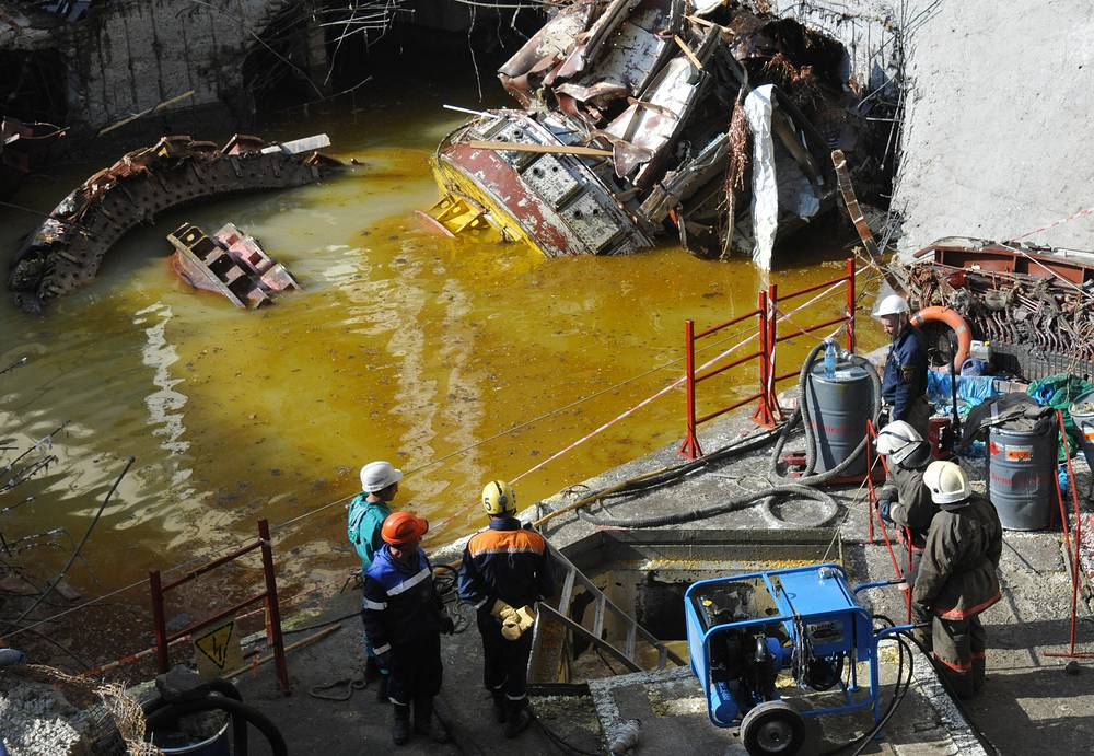 Rescue works after the accident