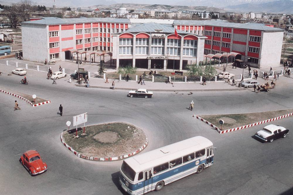 During the Cold War, Afghanistan aligned with neither of the power blocs which was a beneficiary as both sides participated in building the country's main highways, airports and the infrastructure. Photo: a view of Kabul in 1979