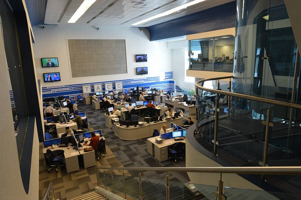 ITAR-TASS newsroom in 2014