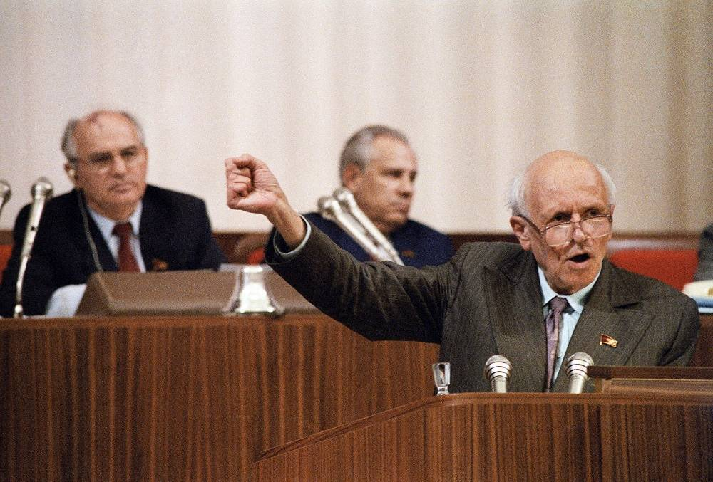 MP Andrei Sakharov at the I Congress of Public Deputies of the USSR, 1989