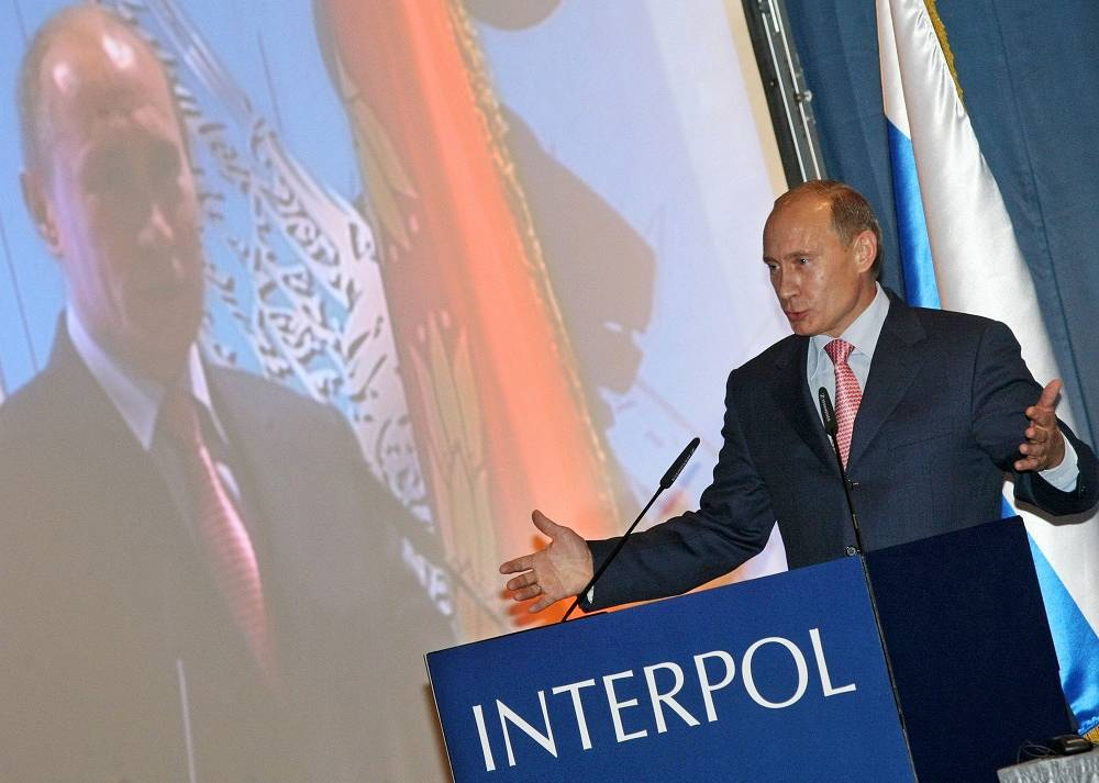 On his 57th birthday Vladimir Putin joined INTERPOL General Assembly, which took place in Russia for the first time in 2008