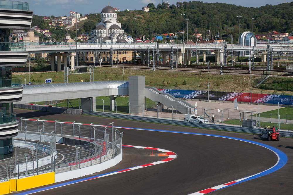 The inaugural Russian Grand Prix will be held at a racing track located near the Olympic Village in the coastal area of Sochi, Black Sea resort host of 2014 Olympic Winter Games. Photo: Russia's Formula 1 racing track in Sochi