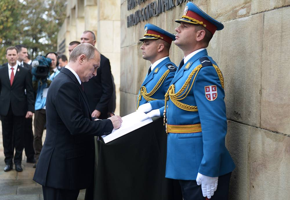 On October 16, 2014, Russian President Vladimir Putin visited Belgrade to join the celebrations marking the 70th anniversary of the liberation of Serbia from Nazi German occupation