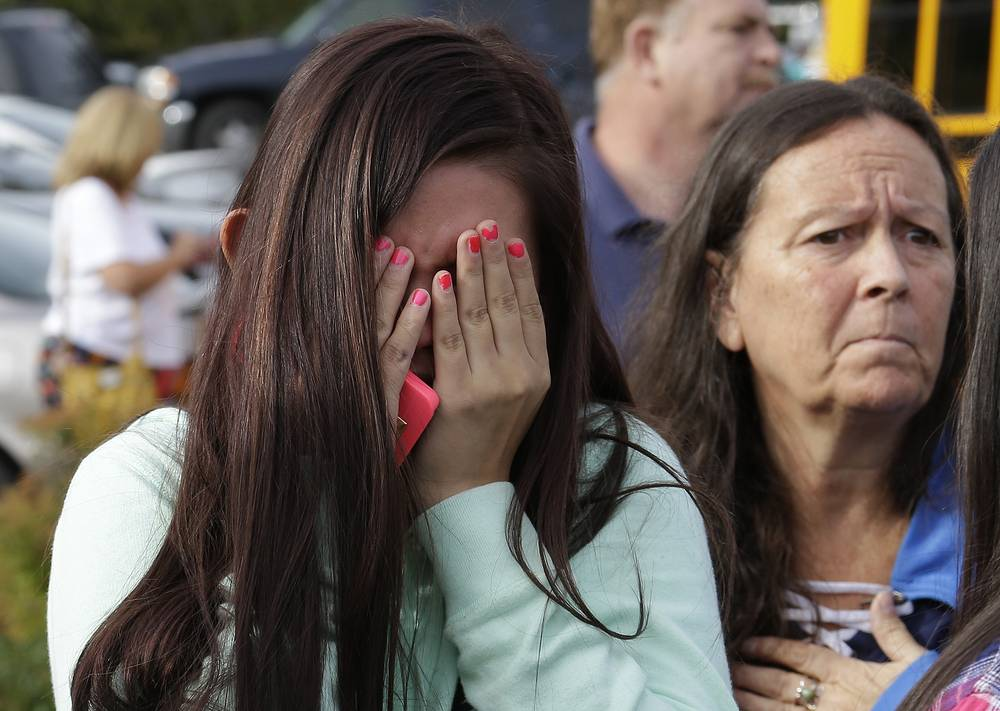 A high school student in Marysville, Washington, opened fire in the high school cafeteria on October 24, 2014 shooting dead one person and wounding four others before killing himself. One of the victims later died in a hospital.
