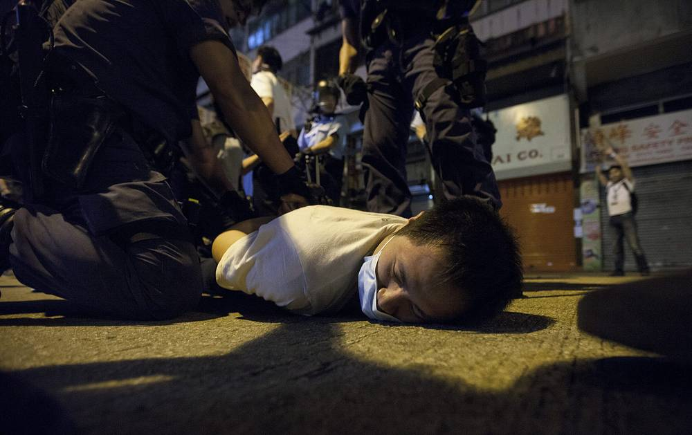 The protesters, including key student leaders, have been held for unlawful assembly, assaulting or obstructing police