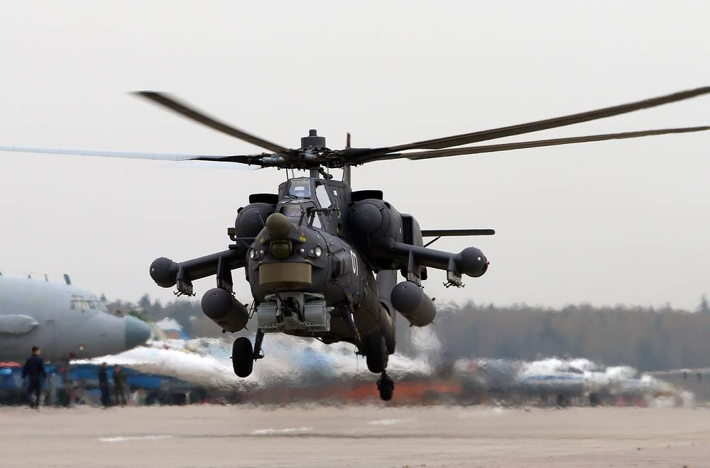 Mi-28 called Night Hunter has a fully armoured cabin and a single gun