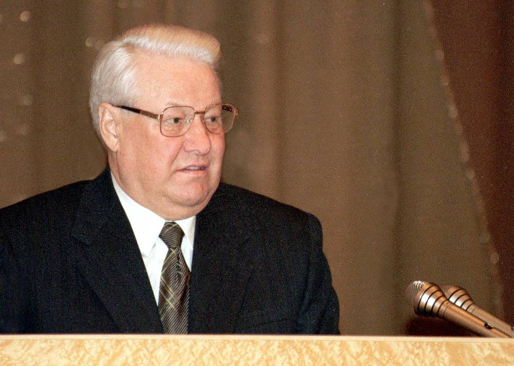 In March 1999 Yeltsin spoke about the consequences of the financial crisis that hit Russia in August 1998 that, according to the president, was caused by the mistakes made during the transition from the socialist to market economy