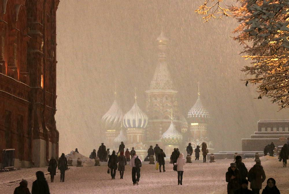 Photo: St. Basil's Cathedral covered with snow
