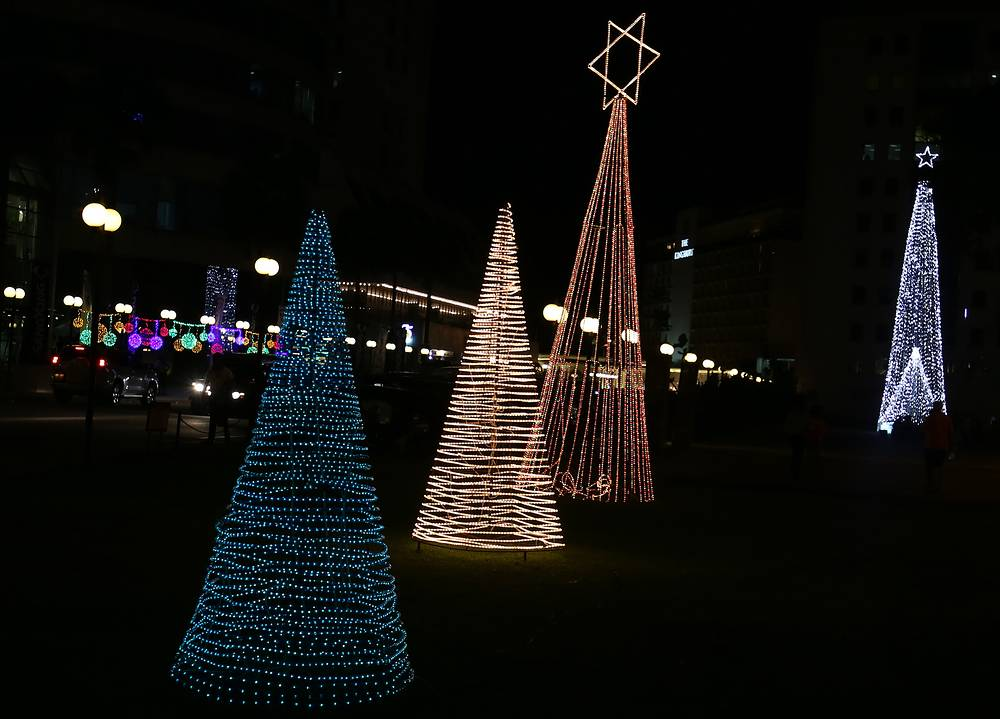 Colourful Christmas illumination in Colombo, Sri Lanka