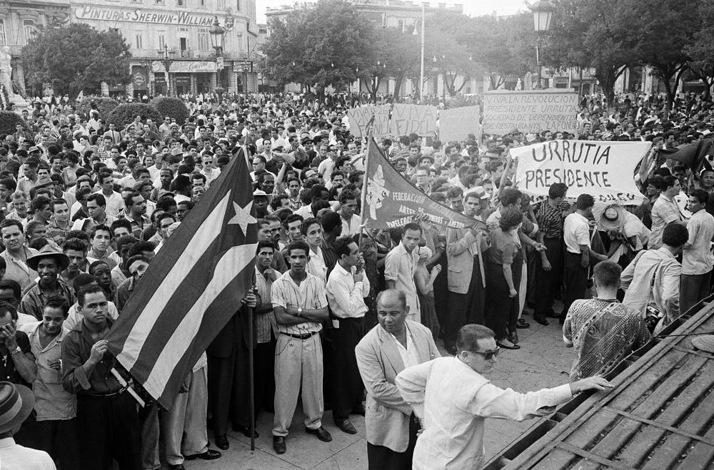 Photo: Supporters of Fidel Castro in Grand Central Park in Havana, 1959